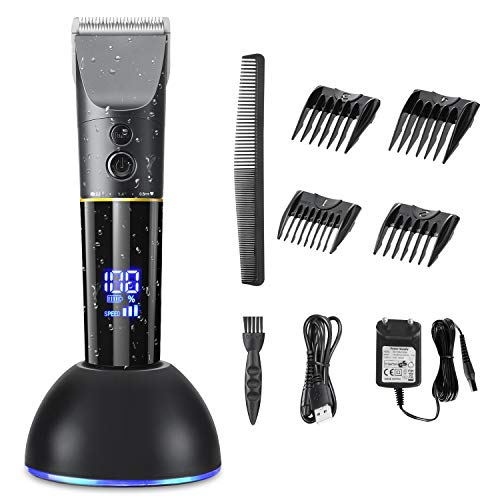 Haarschneidemaschine, HAMSWAN elektrisch Profi Haarschneider Set Haarschneider Maschine mit Akku, Männer Haartrimmer langhaarschneider für Herren, Kinder und Familien