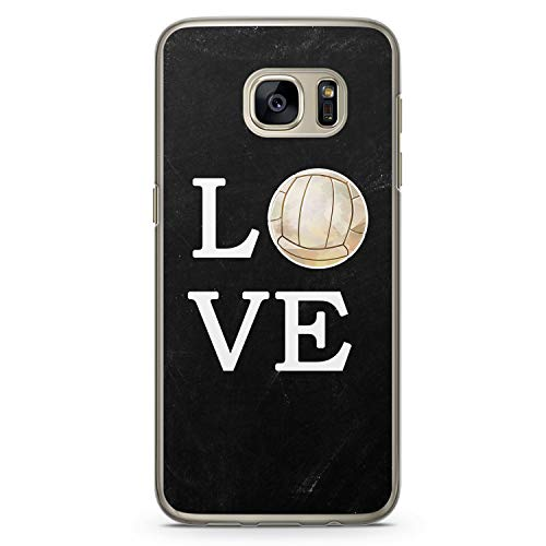 Love Volleyball - Hülle für Samsung Galaxy S7 - Motiv Design Sport - Cover Hardcase Handyhülle Schutzhülle Case Schale