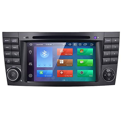 Android 10 Autoradio 4+64G para Benz Classe E/Classe G/ Classe CLK/CLS Benz Radio 2 DIN Radio GPS Control del Volante Bluetooth WiFi 4G RDS DSP Dab+ Entrada de Vista Trasera USB Botones LED DVD