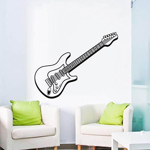 yaonuli muursticker, muziek, elektrische gitaar, mooie wanddecoratie, voor huis, slaapkamer, decoratie
