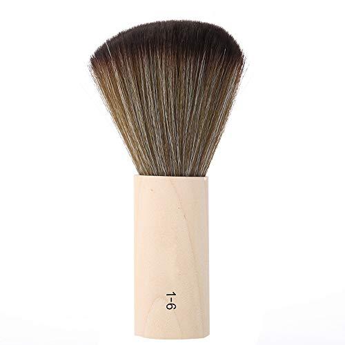 Brosse de nettoyage de barbier, brosse de plumeau de cou de barbier brosse de balayage de cheveux doux brosse de coiffure de plumeau de visage de cou brosse de cheveux de Stylin 5,9 `` x 1,5 '' pour l