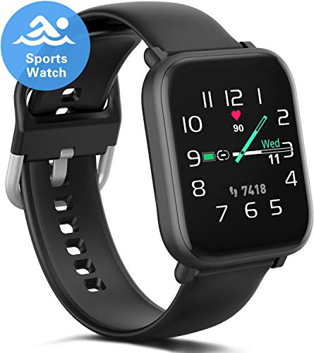 Fitness Smartwatch for Women Men, Waterproof Swimming Smart Watch with Heart Rate Blood Oxygen Monitor, Fitness Tracker with 18 Sport Modes, Music, Sleep Monitor, Pedometer for iPhone Android Phones