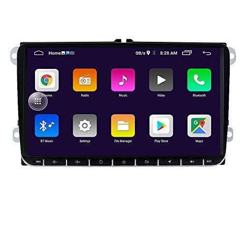 Lettore FM stereo per auto doppio veicolo Din Android 10 con Canbus supporta radio Bluetooth Mirror-link CAM-IN WiFi 4G SWC DVR TPMS DAB + adatto per Skoda/Seat
