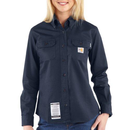 Product Image of the Carhartt Women's Classic Twill Shirt,Dark Navy,X-Small