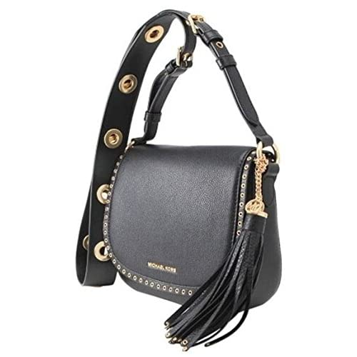b7b5426dc244ba Michael Kors Brooklyn Medium Saddle Bag in Black