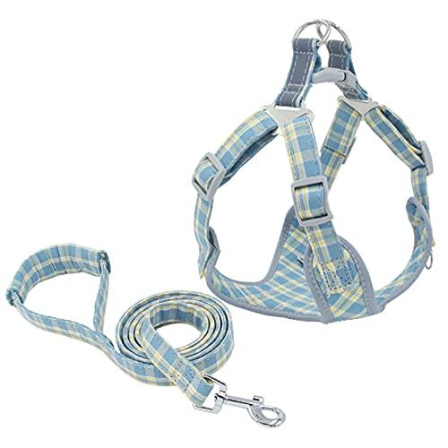 YODZKJ Chaleco reflectante resistente para perros y mascotas, arnés para perros y mascotas, juego de cuerda de plomo para perros pequeños