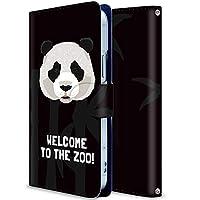 AQUOS Zero 801SH ケース 手帳型 アクオス ゼロ 801SH カバー スマホケース おしゃれ かわいい 耐衝撃 花柄 人気 純正 全機種対応 パンダはあなたを歓迎します アニメ かわいい アニマル 2014815