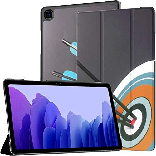 Funda para Tableta Samsung Galaxy Tab A7 de 10,4 Pulgadas 2020 (sm-t500 / t505 / t507), Tres Flechas de Tiro con Arco Negras Verdes golpean la Cubierta del Soporte de múltiples ángulos con activación