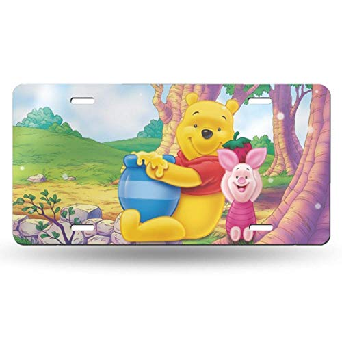 Suzanne Betty Aluminum License Plates - Winnie Pooh Honey License Plate Tag Car Accessories 12 X 6 Inches