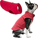 Gooby Dog Fleece Vest - Red, Medium - Pullover Dog Jacket with Leash Ring - Winter Small Dog Sweater - Warm Dog Clothes for Small Dogs Girl or Boy for Indoor and Outdoor Use