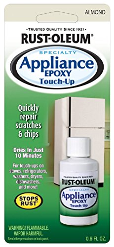 Rustoleum 203001 0.6 oz Almond Specialty Appliance Epoxy Touch Up Paint, 2-Pack