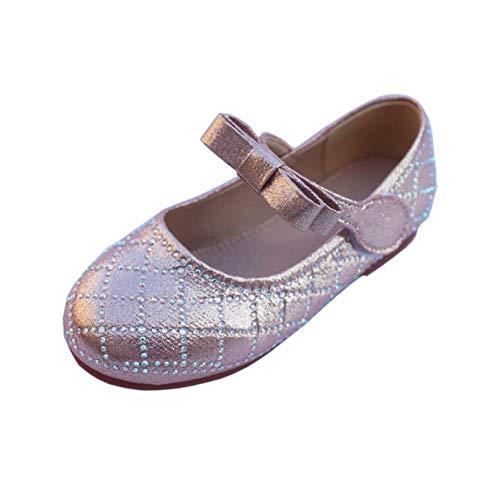 Zapatos de Princesa para niños cómodos Informales Bajos con Punta Redonda Zapatos Planos de Cuero Zapatos de Baile para niñas Zapatos Mary Jane