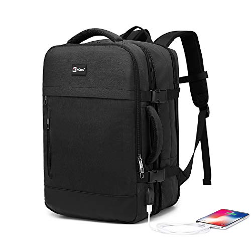 KONO 23L/35L Business Laptop Carry-on Travel Backpack Waterproof Expandable Travel Backpack Luggage Flight-Approved Expandable Weekender Bag