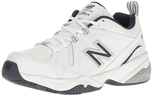 New Balance Men's 608 V4 Casual Comfort Cross Trainer, White, 10.5 XW US