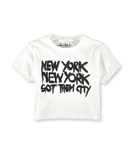 HLZBLZ Womens The Got Them City Graphic T-Shirt, White, Large