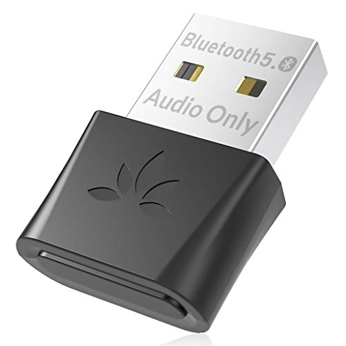 Avantree DG80 Bluetooth 5.0 USB Audio Adapter for PC Computer Laptop Mac PS4 PS5 Linux, USB Dongle for Headset Speaker, Ideal for Music, Calls, Game, Movie, aptX Low Latency, Plug & Play (Audio Only)