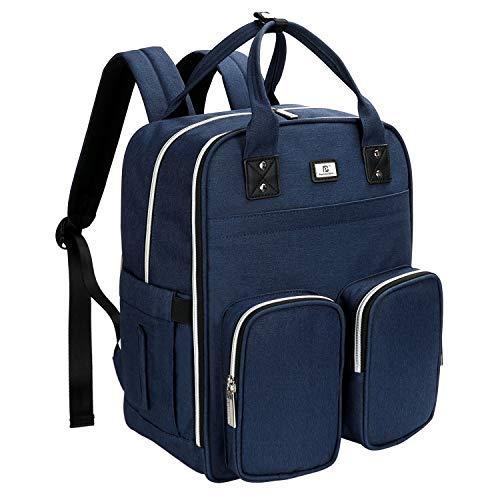 Nappy Tas, Baby Nappy veranderende rugzak met veranderende mat, multifunctionele luiertas rugzak, komen met geïsoleerde zakken en Haak de wandelwagen vast (blauw)