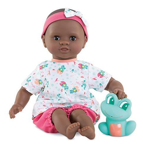 Corolle Mon Premier Poupon Badebaby Alyzee / Weichkörper-Badepuppe mit Badetier / Schlafaugen / Vanilleduft / abnehmbare Kleider / 30cm / Für Kinder ab 18 Monaten geeignet