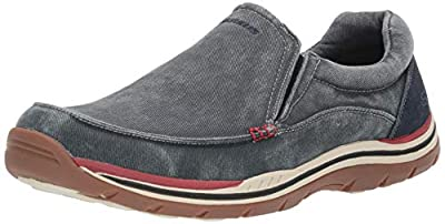 Skechers USA Men's Expected Avillo Relaxed-Fit Slip-On Loafer,Navy,12 M US