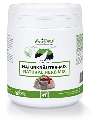 AniForte Barf Naturkräuter Mix für Hunde 250 g - Unterstützt Verdauung, optimiert Immunsystem, Kräuter für Hunde mit Enzymen, Chlorophyll & Vitaminen, Perfekter Barf Zusatz als Naturprodukt