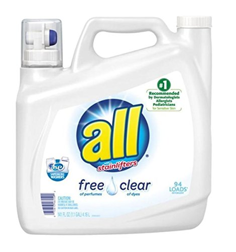 All w/ Stainlifters Free of Perfumes Clear of Dyes Laundry Detergent 141 Fl Oz