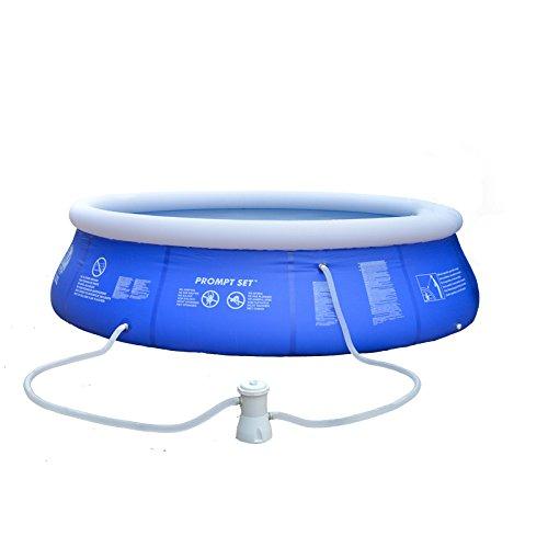 LZTET Schnell-Set Rund Aufblasbare Familie Schwimmbad Faltung Wanne Kinder Pool Multi-Layer Aufblasbare Badewanne Garten Im Freien Schwimmen Spielen Pool Planschbecken,Blue-180 * 73cm
