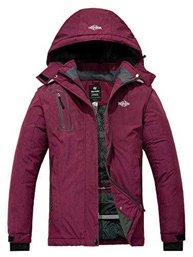 Wantdo Women's Mountain Ski Jacket Waterproof Rain Coat Blending Purple Medium