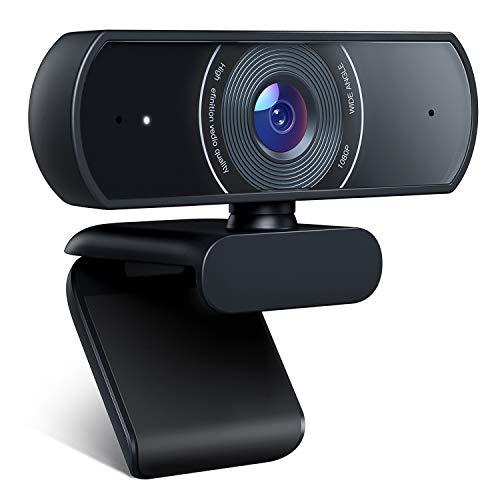 Crosstour Webcam mit Mikrofon, 1080P HD Webcam Streaming Computer Webkamera - USB Plug & Play für PC Laptop Desktop für Videoanrufe, Konferenz, Online-Studie