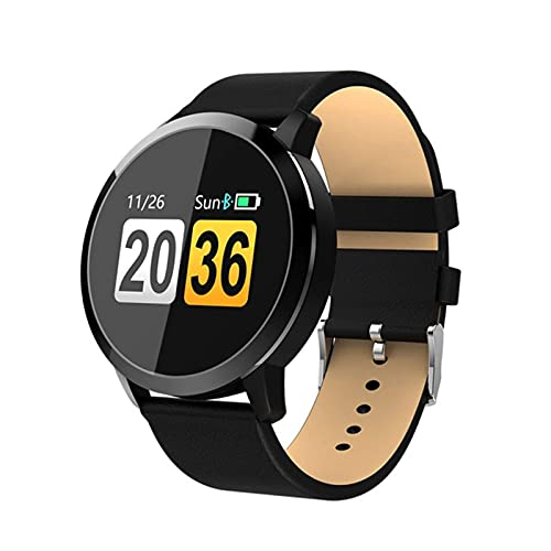 Gymqian Nuevo Q8 Oled Bluetooth Smart Watch Smart Acero Impermeable Impermeable Dispositivo Wearablewatch Reloj de Pulsera Hombres Mujeres Fitness Tracke, C Exquisito/E