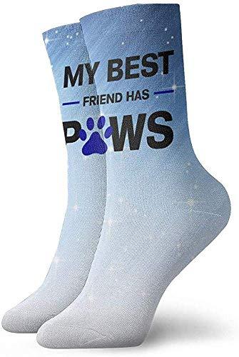 Ahdyr Calcetines unisex de longitud media, mi mejor amigo tiene patas Calcetines Hombres Mujeres Calcetines deportivos Calcetines que absorben la humedad