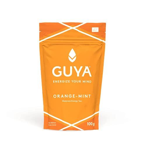 Bio Guayusa Tee lose (Orange-Mint) | 100g für 40 Tassen | Kaffee Ersatz | Energize Your Mind | Orangenschale, Minze, Süßholz | Natürliches Koffein, L-Theanin | Perfekt als Cold Brew