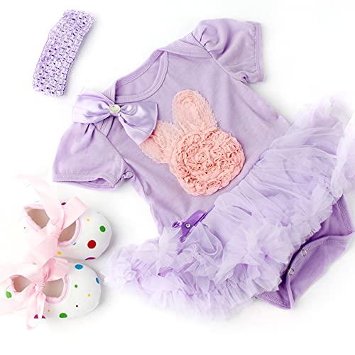 """ZIYIUI Ropa de Muñecas para New Born Baby Doll, Trajes con Sombrero para 18-22 """" Muñecas (45-22 cm)"""