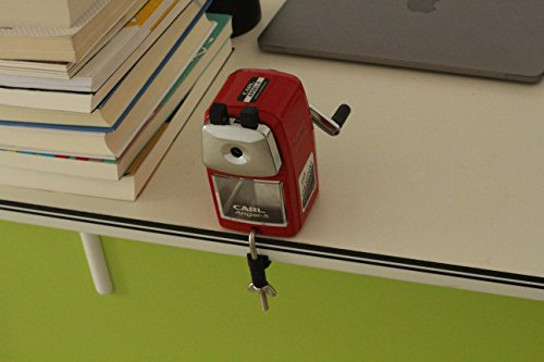 CARL Angel-5 Manual Pencil Sharpener Heavy Duty Quiet for School Home and Office,Red Photo #5