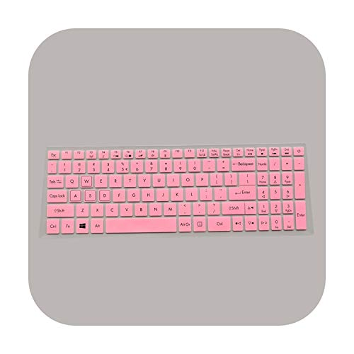 Keyboard Protective Cover Skin Protector for 15.6' Acer Nitro 5 An515 52 An515 An5 Vx 15 Vx5 591G V 17 Gaming Vn7 793G 17.3-Pink-