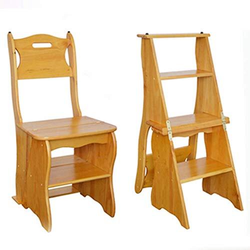 Equipo diario Taburete de madera con escalones Lugares altos en la cocina Baño Armario Taburete con escalones Escalera Asientos de sillas Estante de escalera de madera Pedal de 4 capas Ampliado Est