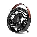 L@LILI USB Mini Fan Ventilador eléctrico Portátil Metal silencioso Mini Fan pequeño Ventilador de Mesa para el hogar del Estudiante, Dormitorio,