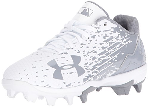Under Armour Men's Leadoff Low Jr. RM Baseball Shoe, (100)/White, 1