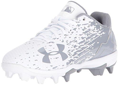 Under Armour Men's Leadoff Low Jr. RM Baseball Shoe, (100)/White, 1