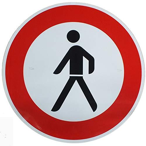 ORIGINAL Verkehrszeichen VERBOT FÜR FUßGÄNGER Nr. 259 Verkehrsschild Verbotsschild Strassenschild Verkehrszeichen StVO Straßenzeichen Verbotschild Schild Verbot für Fußgänger mit RAL Gütezeichen