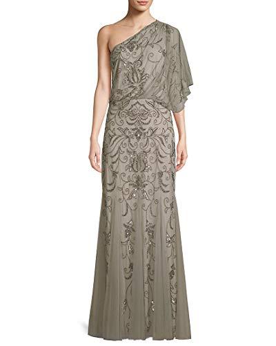 Adrianna Papell Damen Blousson-Kleid mit Perlen - grau - 36