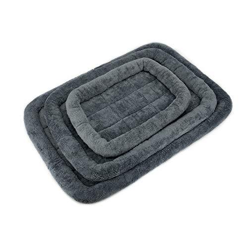 Almohadilla para mascotas Perro refuerzo cama colchoneta lavabo colchón de cajón no deslizamiento mascota alfombra perro cojín lavable mascota colchón ( Color : Dark Grey , Size : XL 90 x 60 cm )