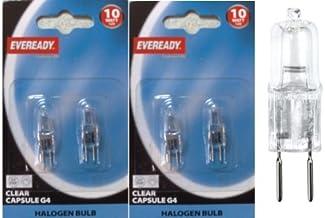 Eveready 4X 10W 12V G4 Dimmable Halogen Capsule Light Bulbs - Pack of 3