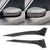 MyEstore Accessori Esterni Car Grande 2 Carbon Fiber PCS Car Specchio retrovisore Striscia Adesivo Decorativo for BMW G30 (2018-2019) / G11 (2016-2019), a Sinistra Senza Obiettivo