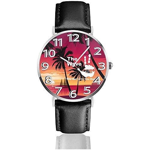 Ver Reloj de Pulsera The Je-e-p Wave Lo entiendes o no lo Haces Reloj de Cuarzo Casual clásico para Hombres y Mujeres