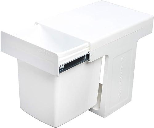 15L Slim Slide Out Waste Rubbish Dust Kitchen Bin