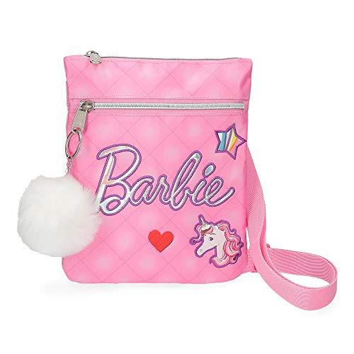 Mattel Barbie Fashion schoudertas, 24 cm, 5,76 liter, roze (roze)