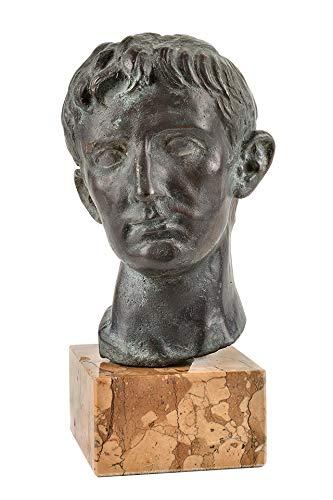 salvadori arte, Testa Giulio Cesare, Scultura in Bronzo patinato fusa a Cera persa