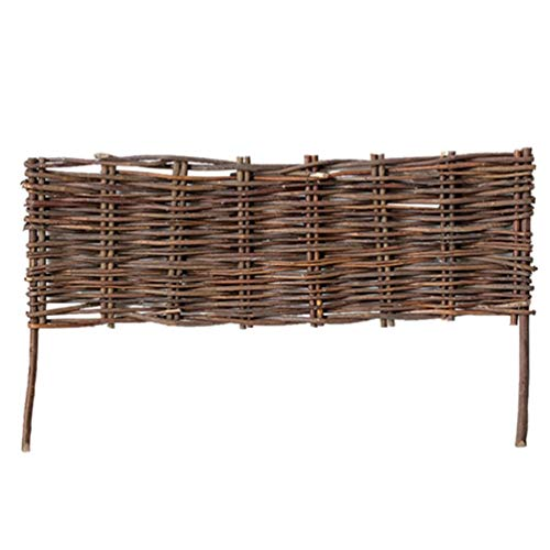 Cabilock Willow Fence Eco-Friendly Willow Panel Wood Fence for Outdoor Balcony Patio Garden Border