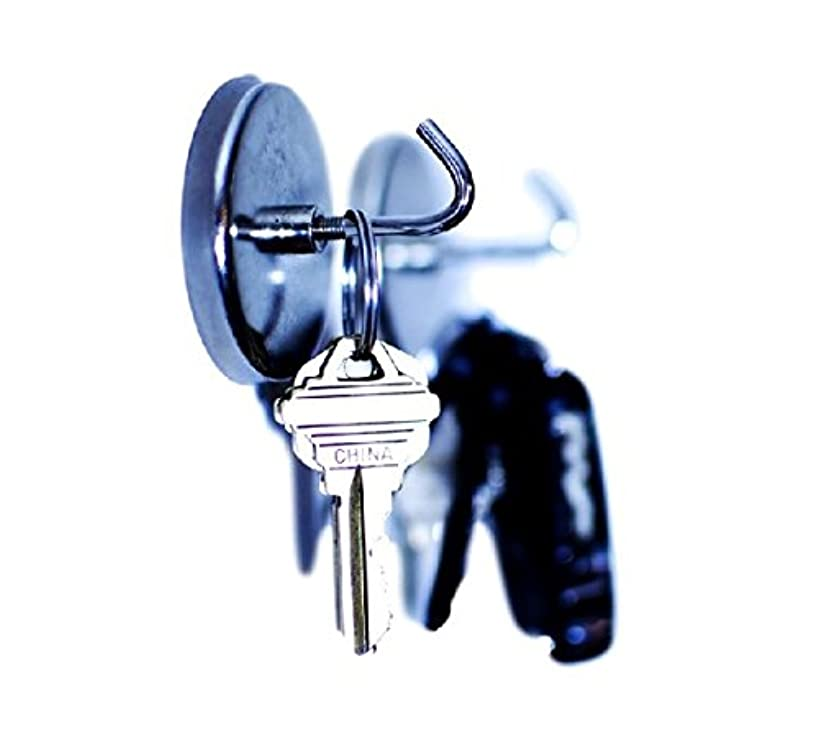 Laser Products Magnetic Hooks, 2 Inches , 2 Piece Set, 15 Pound Capacity, Neodymium Magnets for Lockers, Tool Boxes, Refrigerators
