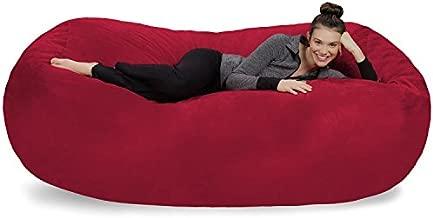 Sofa Sack - Plush Bean Bag Sofas with Super Soft Microsuede Cover - XL Memory Foam Stuffed Lounger Chairs for Kids, Adults, Couples - Jumbo Bean Bag Chair Furniture - Cinnabar 7.5'